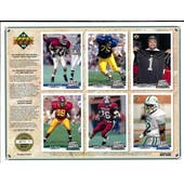 1992 Upper Deck NFL Properties Insert Set Sell Sheet Version 3 of 8
