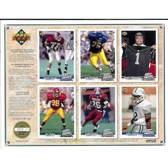 1992 Upper Deck NFL Properties Insert Set Sell Sheet Version 3 of 8