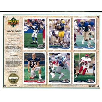 1992 Upper Deck NFL Properties Insert Set Sell Sheet Version 4 of 8