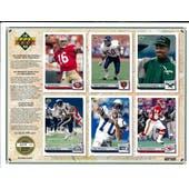 1992 Upper Deck NFL Properties Insert Set Sell Sheet Version 6 of 8