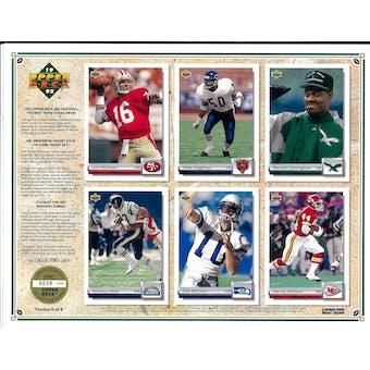 1992 Upper Deck NFL Properties Insert Set Sell Sheet Version 6 of 8