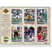 1992 Upper Deck NFL Properties Insert Set Sell Sheet Version 8 of 8