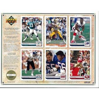 1992 Upper Deck NFL Properties Insert Set Sell Sheet Version 8 of 8