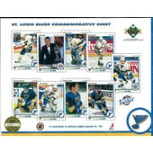 1990/91 Upper Deck St. Louis Blues Commemorative Sheet Hull/Joseph/Stevens/Oates