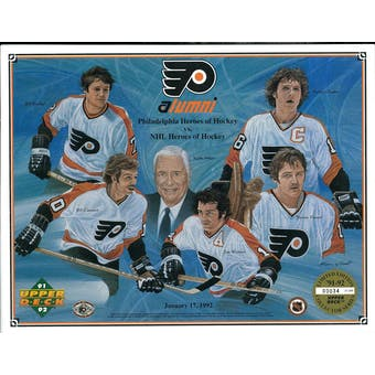 1991/92 Upper Deck Philadelphia Flyers Alumni Commemorative Sheet Clarke/Parent