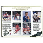 1991/92 Upper Deck All-Rookie Team Commemorative Sheet Hasek/Lidstrom/Amonte