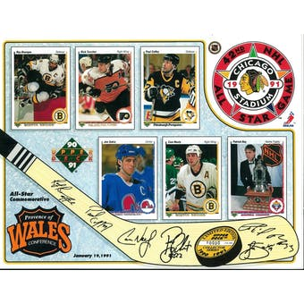 1991 Upper Deck NHL All-Star Game Commemorative Sheet Roy/Bourque/Sakic 2 of 2