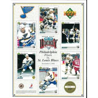 1991/92 Upper Deck St. Louis Blues Commemorative Sheet Hull/Joseph/Oates