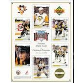 1991/92 Upper Deck Pittsburgh Penguins Commemorative Sheet Jagr/Barrasso/Recchi