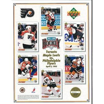 1991/92 Upper Deck Philadelphia Flyers Commemorative Sheet Brind'Amour/Ricci