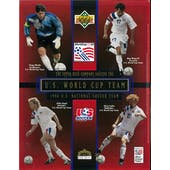 1994 Upper Deck U.S. Men's National World Cup Team Red Commemorative Sheet