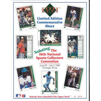 1989 Upper Deck 10th National Sports Collectors Convention Commemorative Sheet