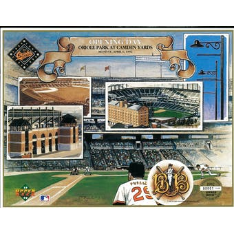 1992 Upper Deck Opening Day at Camden Yards Commemorative Sheet
