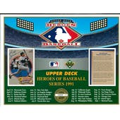 1991 Upper Deck Heroes Of Baseball Series Calendar Commemorative Sheet Reggie Jackson