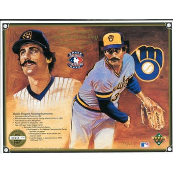 1992 Upper Deck Rollie Fingers HOF Day Commemorative Sheet