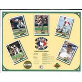 1992 Heroes of Baseball Collector's Show Schedule Commemorative Sheet Brock/Bonds/Gibson