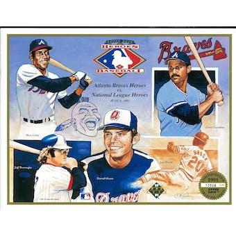 1991 Upper Deck Heroes of Baseball Atlanta Braves Commemorative Sheet