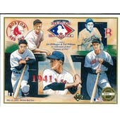 1991 Upper Deck Heroes of Baseball Boston Red Sox 1941 Tribute Commemorative Sheet