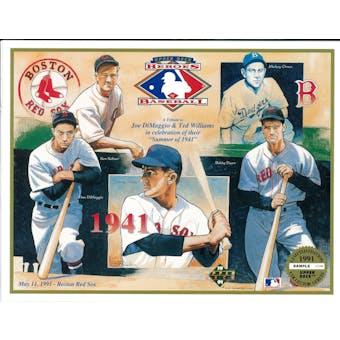 1991 Upper Deck Heroes of Baseball Boston Red Sox 1941 Tribute Commemorative Sheet