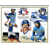 1991 Upper Deck Heroes of Baseball Milwaukee Brewers 1981 Playoff Commemorative Sheet