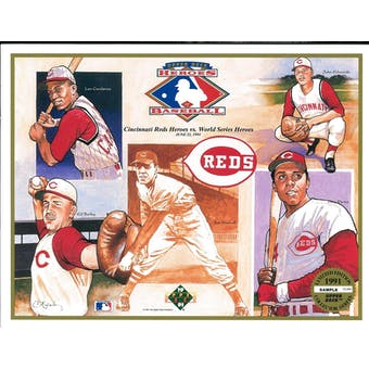 1991 Upper Deck Heroes of Baseball Cincinnati Reds Commemorative Sheet