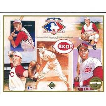 1991 Upper Deck Heroes of Baseball Cincinnati Reds Commemorative Sheet
