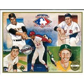 "1991 Upper Deck Heroes of Baseball ""Joe's vs Bob's"" Commemorative Sheet"