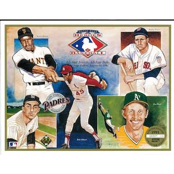 "1991 Upper Deck Heroes of Baseball ""Joe's vs Bob's"" Commemorative Sheet"