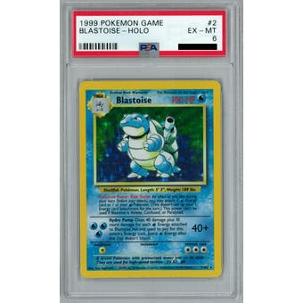 Pokemon Base Set Unlimited Blastoise 2/102 PSA 6