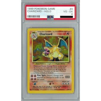 Pokemon Base Set Unlimited Charizard 4/102 PSA 4