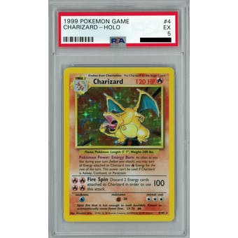 Pokemon Base Set Unlimited Charizard 4/102 PSA 5