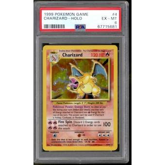 Pokemon Base Set Unlimited Charizard 4/102 PSA 6