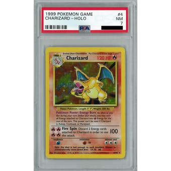 Pokemon Base Set Unlimited Charizard 4/102 PSA 7