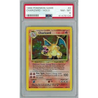 Pokemon Base Set Unlimited Charizard 4/102 PSA 8