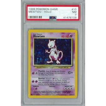 Pokemon Base Set Unlimited Mewtwo 10/102 PSA 7