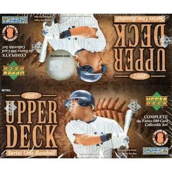 2007 Upper Deck Series 1 Baseball 24-Pack Box