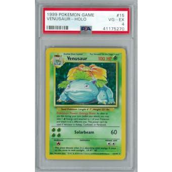 Pokemon Base Set Unlimited Venusaur 15/102 PSA 4