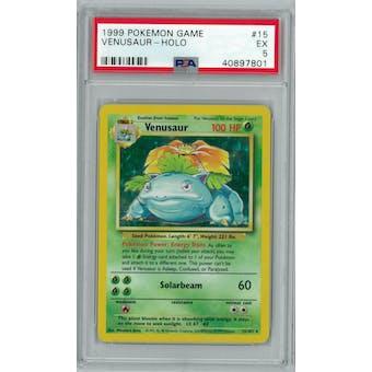 Pokemon Base Set Unlimited Venusaur 15/102 PSA 5