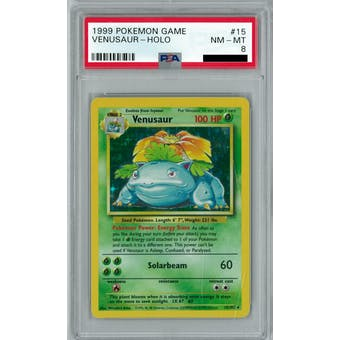 Pokemon Base Set Unlimited Venusaur 15/102 PSA 8