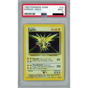 Pokemon Base Set Unlimited Zapdos 16/102 PSA 9