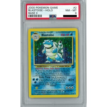 Pokemon Base Set 2 Blastoise 2/130 PSA 8