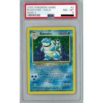 Pokemon Base Set 2 Blastoise 2/130 PSA 8