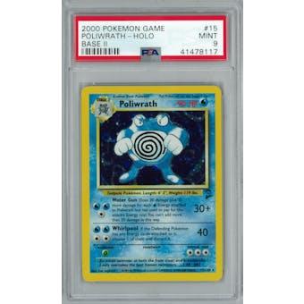 Pokemon Base Set 2 Poliwrath 15/130 PSA 9