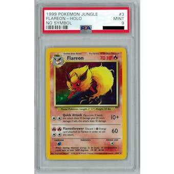Pokemon Jungle No Set Symbol Error Flareon 3/64 PSA 9