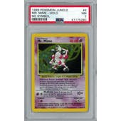 Pokemon Jungle No Set Symbol Error Mr. Mime 6/64 PSA 7
