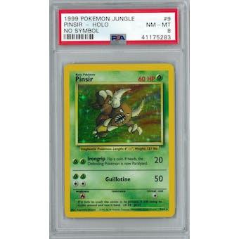 Pokemon Jungle No Set Symbol Error Pinsir 9/64 PSA 8