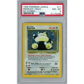 Pokemon Jungle No Set Symbol Error Snorlax 11/64 PSA 8