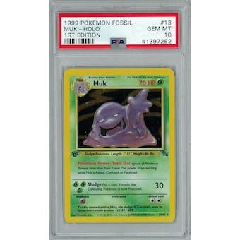 Pokemon Fossil 1st Edition Muk 13/62 PSA 10 GEM MINT