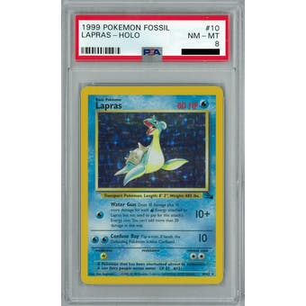 Pokemon Fossil Lapras 10/62 PSA 8