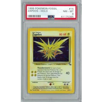Pokemon Fossil Zapdos 15/62 PSA 8